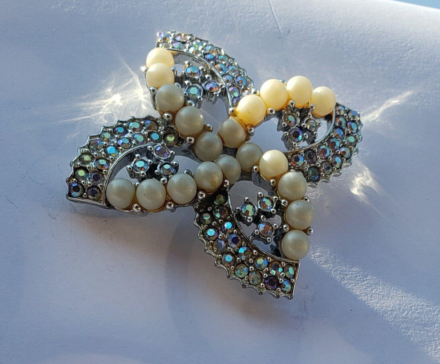Monet Aurora Borealis Rhinestone Stud  Earrings w… - image 7