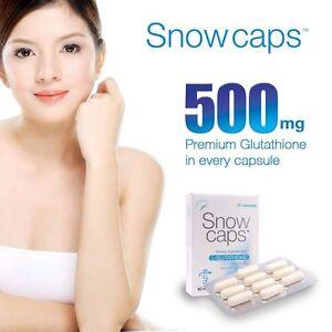 Details about SNOWCAPS SNOW CAPS PREMIUM GLUTATHIONE SKIN LIGHTENING PILLS  WHITENING CAPSULES
