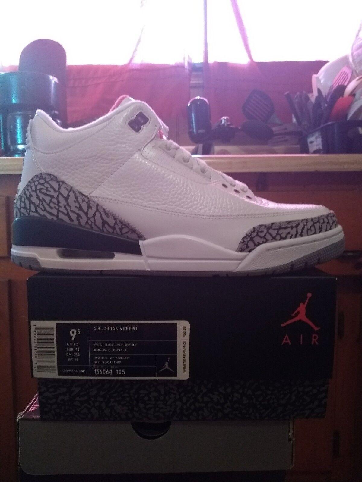 Jordan 3 White Cement 2011 OG Size 9.5 With Receipt