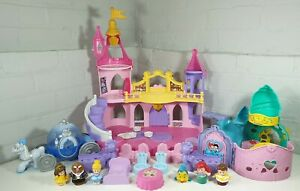 Fisher-Price-Disney-Little-People-Princess-Cinderella-beauty-mermaid-castle