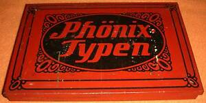 Stempel Walther Dresden phönix typen druckbuchstaben albert walther stempel fabrik dresden