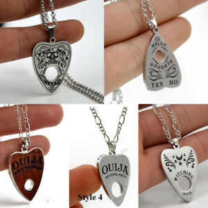 Luxury-Stainless-Steel-Vintage-Ouija-Board-Pendant-Necklace-Chain-Jewelry-Gift
