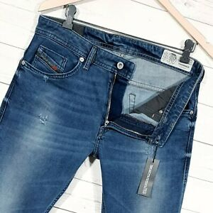⭐ Mens Diesel Thommer stretch Slim-skinny denim jeans wash 084NV size W31 L34