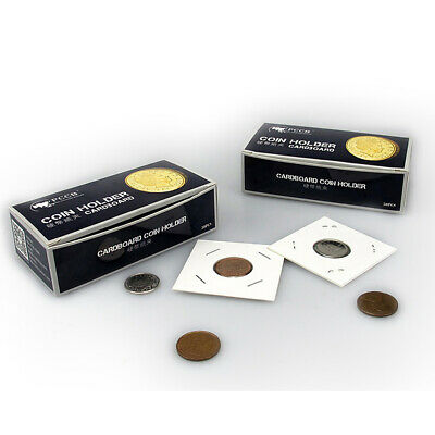 50pcs 31.5mm 2x2 Cardboard Coin Holders Flips Display Collection Organizer