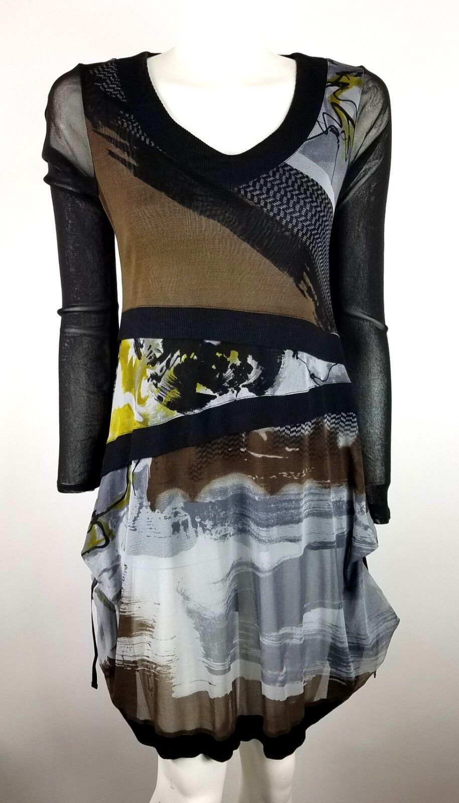 Mado et les Autres Tunic Top Dress Two Layer Wearable Art Designed in France
