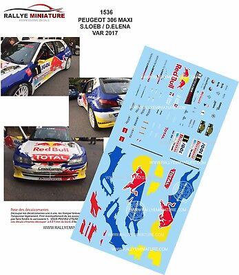 DECALS 1//43 REF 0055 PEUGEOT 306 MAXI PANIZZI TOUR DE CORSE 1997 RALLYE RALLY