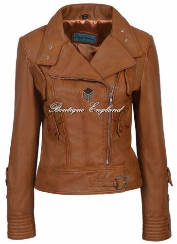4110 para de Napa cuero 100 real estilo damas Chaqueta biker Supermodel qwvHEE6