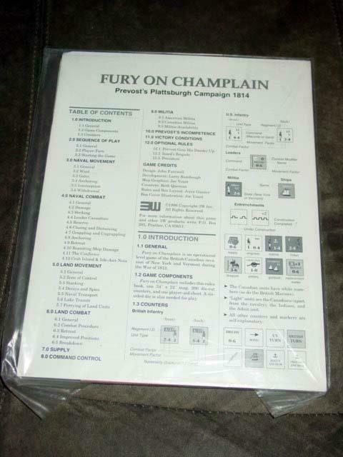 3W - Fury on  Champlain - Prevost's Plattsburgh Campaign 1814 (UNPUNCHED ZIP)  best-seller