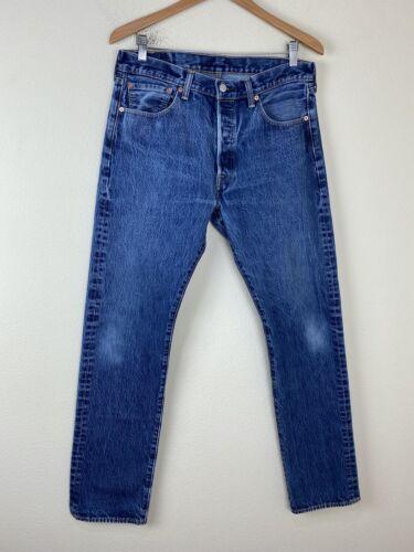 LEVIS 501 XX Straight Leg Denim Jeans 33x34 ACTUA… - image 1