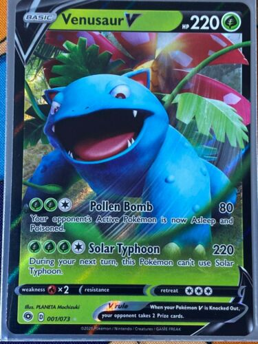 Venusaur V 001//073 CHAMPIONS PATH Ultra Rare Pokemon NM Pack Fresh