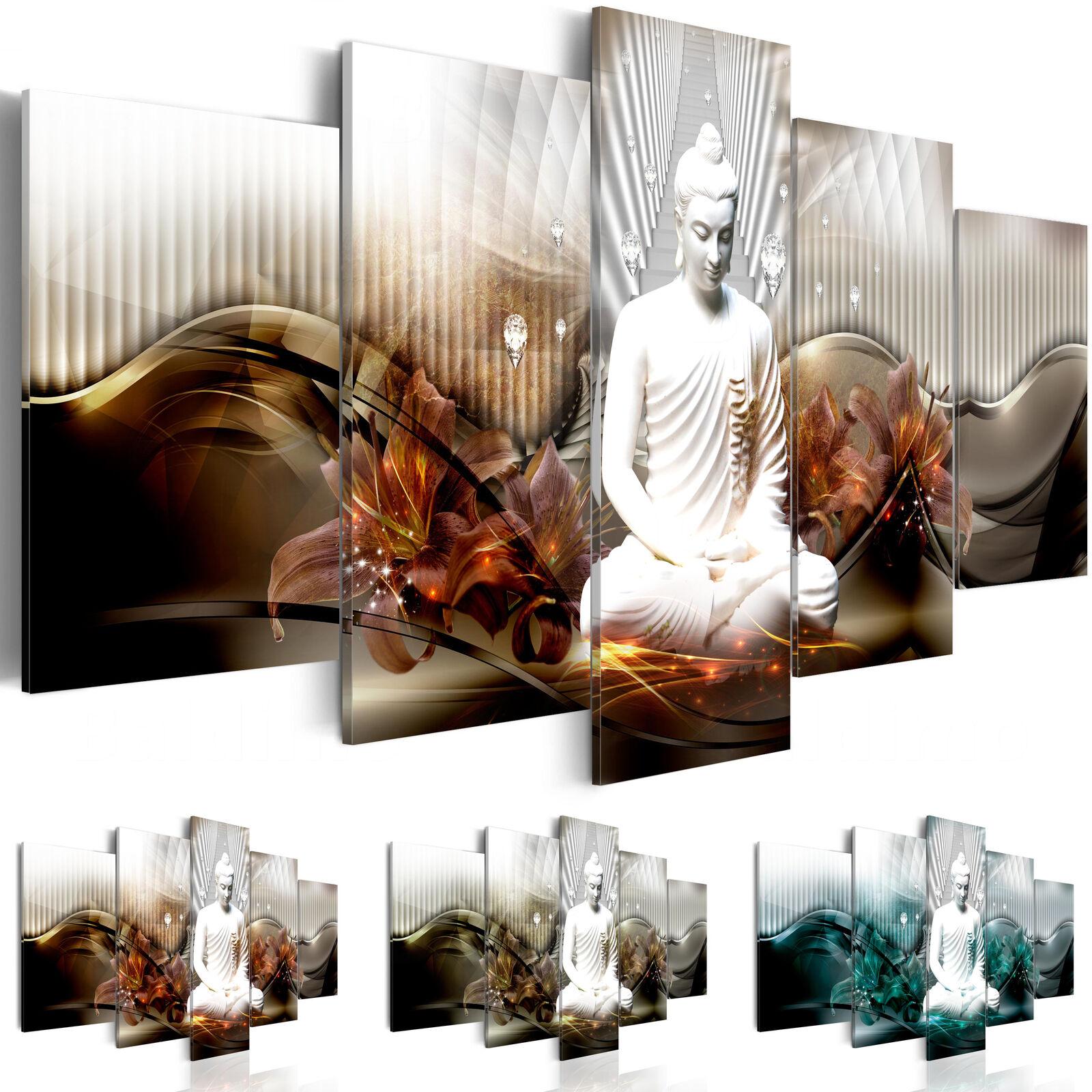 Cuadros lienzo XXL decoracion parot foto impresión Buda Zen Spa h-C-0043-b-n