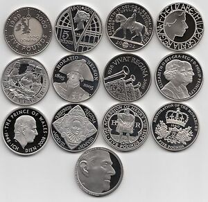 Royal Mint PROOF Five Pound Coin £5 1993 - 2021  Choose your coin