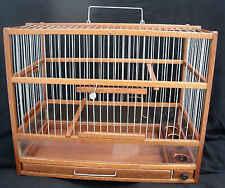 """Belle Cage Oiseaux  en Bois Noble """"Acajou"""" ,  Avec PlexyGlass"""