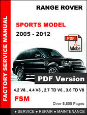 item 8 range rover sport 2005 - 2012 factory service repair fsm manual + wiring  diagram -range rover sport 2005 - 2012 factory service repair fsm manual +