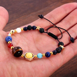 Charm Bracelets Fashion Universe Galaxy The Eight Planets Solar System Guardian Star Natural Stone Beads Bracelet Bangle Women Men Jewelry Gift Always Buy Good Jewelry & Accessories
