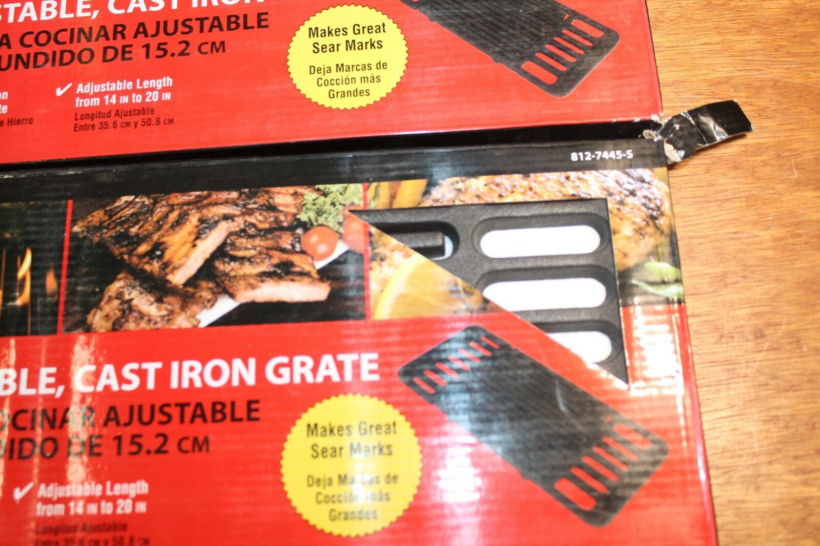 "Brinkmann 812-7445-S Adjustable 6/"" Porcelain-Coated Cast Iron Cooking Grate"