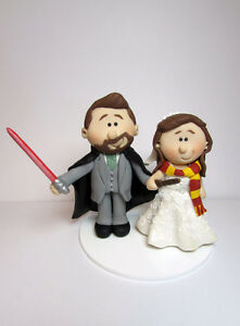 harry potter star wars wedding cake topper personalised wars and harry potter and groom 15100