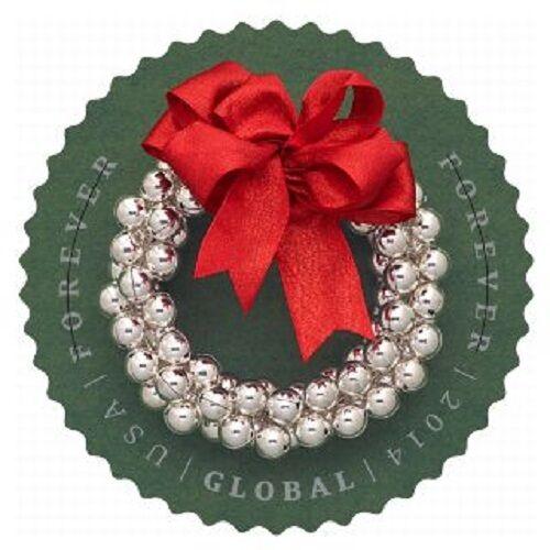 2014 $1.15 Silver Bells Wreath Global Forever Scott 493