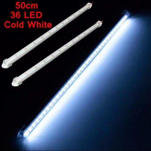2x 12V 50cm 36 LED Interior Strip Light Bar White Lamp Car Van Bus Caravan
