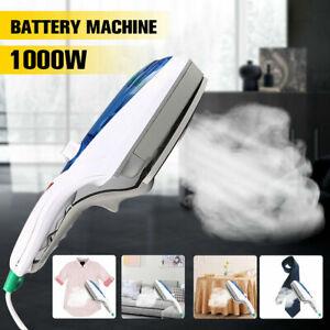 1000W-Electric-Steam-Iron-Handheld-Fabric-Laundry-Steamer-Brush-Travel-220V