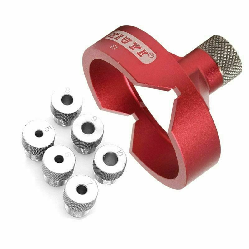 Drill Guide Aluminum Alloy Bit Hole Locator Jig Hole Opener Woodworking Tool New