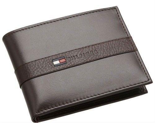 Tommy Hilfiger Men/'s Genuine Leather Credit Card ID Wallet Billfold 31TL22X062