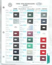 1995 VOLKSWAGEN PPG AND DUPONT  COLOR PAINT CHIP CHART ALL MODELS VW