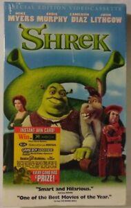 Shrek Vhs Tape 2001 Sealed Mint Special Edition Dreamworks 83670 Ebay