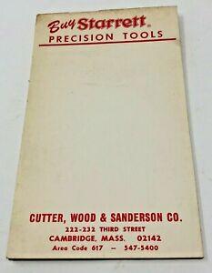 Starrett-Precision-Tools-vintage-notepad-Cutter-Wood-amp-Sanderson-Cambridge-MA