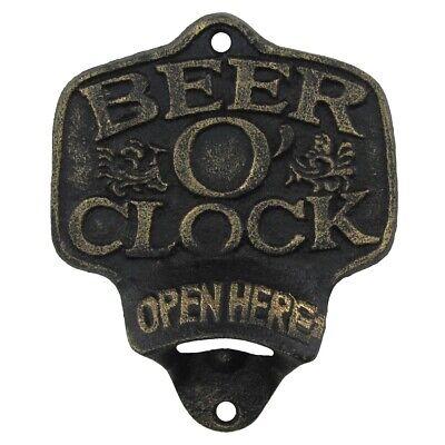 Cast Iron Dads Garage Open Here Beer Soda Bottle Opener Wall Mount Bar Pub Decor