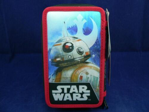 Federmappe Federmäppchen Schüleretui Star Wars 2fach gefüllte Federtasche BB-8