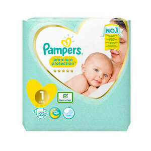 23-Pampers-Premium-Protection-New-Baby-Groesse-1-Windeln-2-5-kg-Diapers-23-Stueck