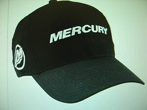 "MERCURY OUTBOARDS PARTS ""NEW"" * MERCURY BLACK ""CAP HAT"""