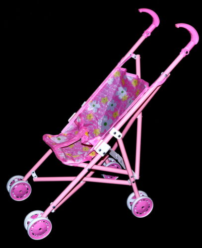 2x poupées voiture poussette Buggy poupées accessoires pour poupées ou tissu animaux rose