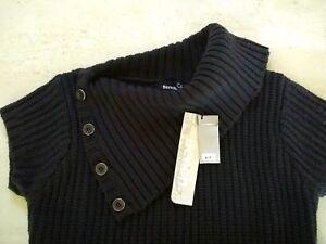 Bench-149-NWT-Sz-L-US-10-EUR-40-Wool-Blend-Knit-Jumper-Tunic-Sweater-Dress-L-K