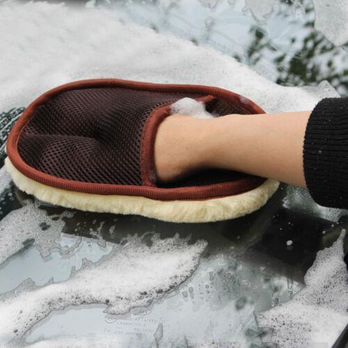1x Super Soft Lambswool Car Motorcycle Wash Washing Clean Polishing Mitt Glove