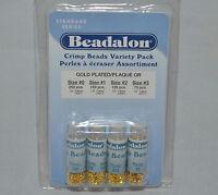 Crimp Bead Gold Plated Beadalon Variety Size 600pk Jewelry Craft Bead Design