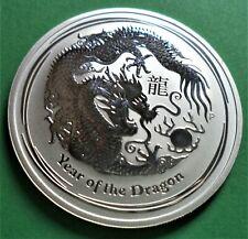 1 oz 999 Silber Silver Lunar Jahr des Drachen II Dragon 2012 Privy Mark Silberm/ünze M/ünze Bulion