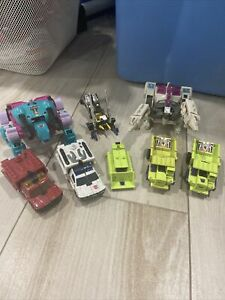 1984 Transformers G1 lot Insect Decepticons Dinobots Rescue Bots Construction