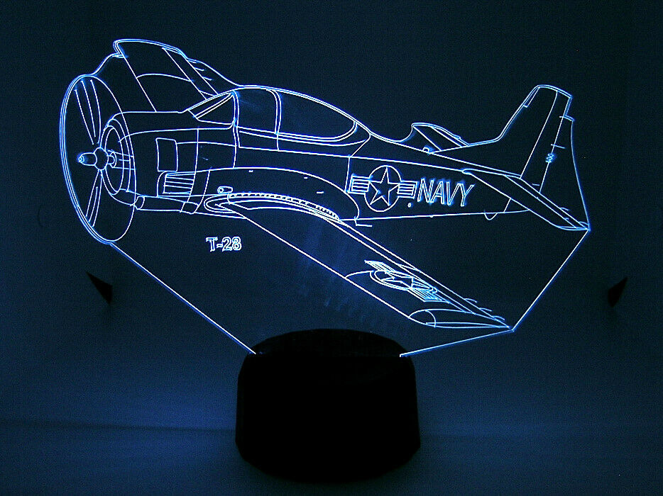 T 28 RC Airplane  Warbird 3D Acrylic Light with Extras  centro commerciale di moda