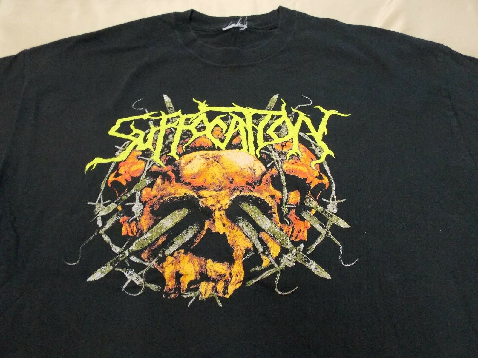 RARE Suffocation  Surgery of Impalement  Relapse Records bluee Grape  XL -2XL