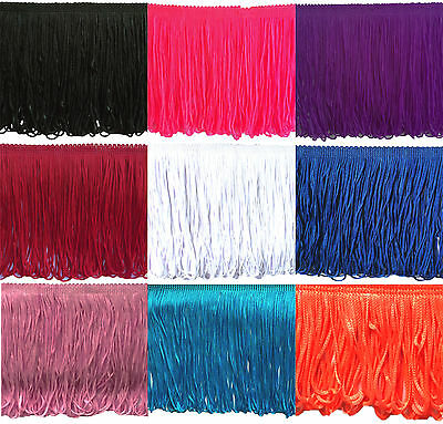 "Fringing / Fringe Dress Loop Trimming 15cm (6"") Choose Length & Colour"