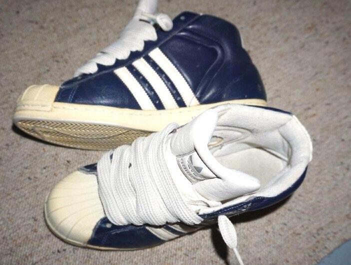 Adidas Superstar Pro Model 46 blau US 12 EU 46 Model 2/3 UK 11,5 Fat Laces e4ebc6