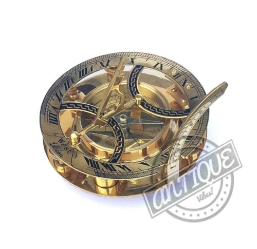 Solid Brass Compass Maritime Nautical Astrolabe Marine Ship Instrument Compasses