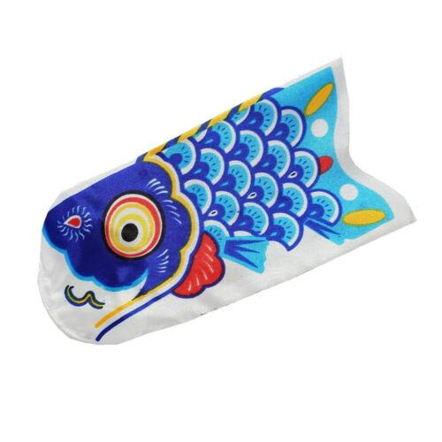 "Koinobori Japanese Carp 6/"" Blue Windsocks"