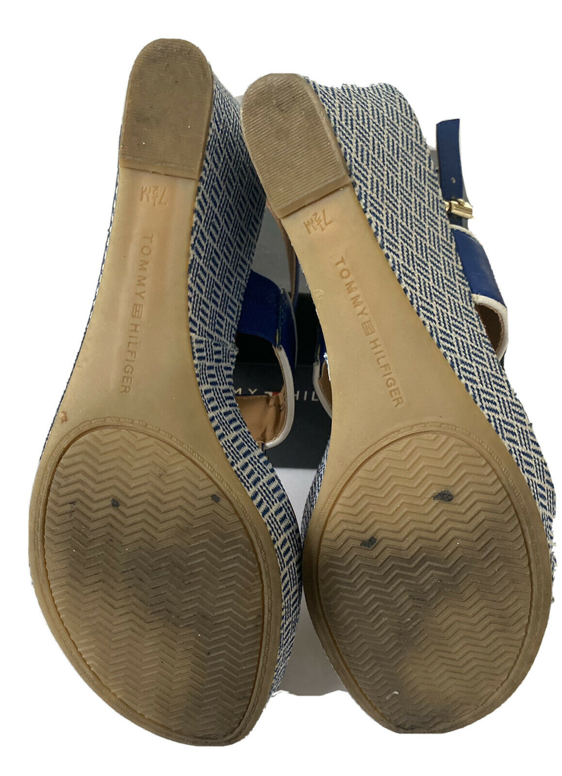 Tommy Hilfiger Women's Size 7.5 M Wedges Navy, - image 4