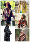 Fall/Winter Tartan Plaid Oversized Blanket Scarf Bloggers Favorite Zara Style
