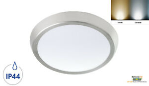 PLAFONIERA-LED-SOFFITTO-LAMPADE-PLAFONIERE-DA-ESTERNO-BIANCA-LED-IP44-NICKEL-13W