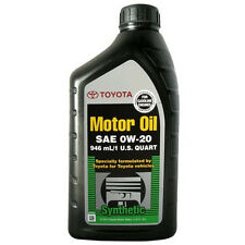 Genuine Toyota Synthetic Motor Oil SAE 0W-20 5 pack  00279-0WQTE-01