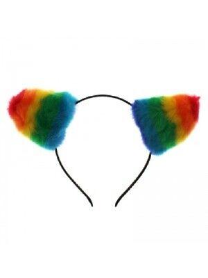 Onesto Arcobaleno Gay Pride Lgbt A Righe Adulti Bambini Festival Gatto Pelo Orecchie